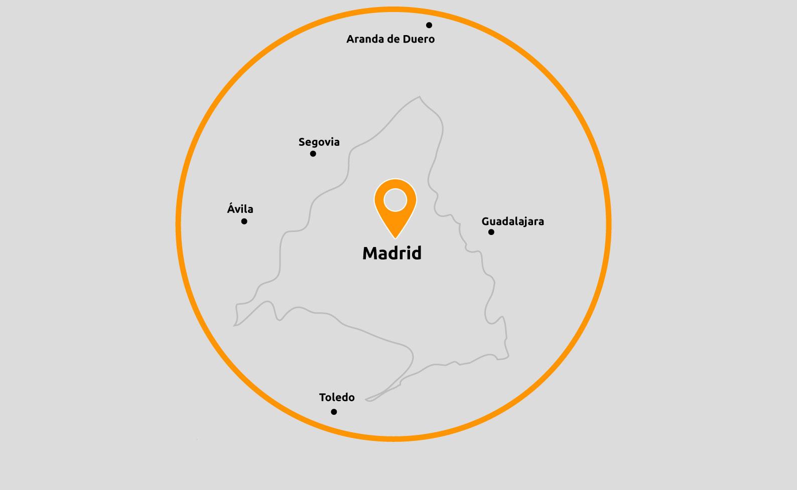 Ubicaciones Novanor Madrid